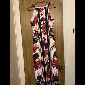 Beautiful floral dress with modest length